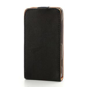 Flipové černé pouzdro na Nokia Lumia 520 - 3