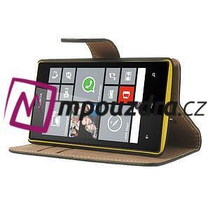 Peněženkové pouzdro na Nokia Lumia 520 - černé - 3