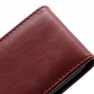 Flipové pouzdro na Nokia Lumia 620- červené - 3