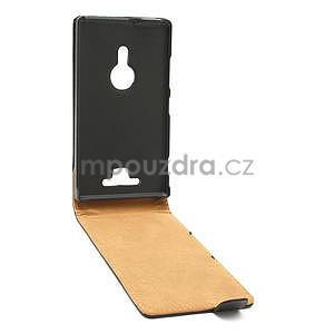Flipové černé pouzdro pro Nokia Lumia 925 - 3