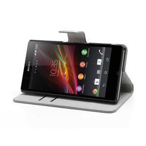 Peněženkové pouzdro na Sony Xperia Z C6603 - barevné vzory - 3