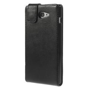 Flipové pouzdro na Sony Xperia M2 D2302 - černé - 3