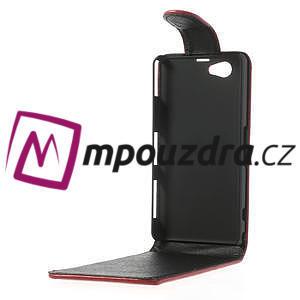 Flipové pouzdro na Sony Xperia Z1 Compact D5503 - červené - 3