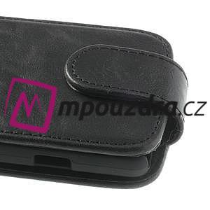 Flipové PU kožené pouzdro na LG Optimus L9 II D605 - černé - 3