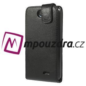 Flipové Cover PU kožené pouzdro na HTC Desire 310- černé - 3