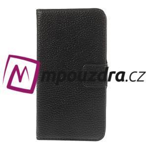 Peněženkové PU kožené pouzdro na HTC Desire 310- černé - 3