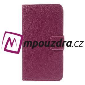 Peněženkové PU kožené pouzdro na HTC Desire 310- růžové - 3