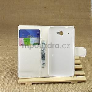Peněženkové pouzdro pro HTC Desire 601- bílé - 3