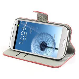 Peněženkové pouzdro na Samsung Galaxy S3 i9300- USA vlajka - 3