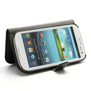Peněženkové pouzdro na Samsung Galaxy S3 i9300- černé - 3