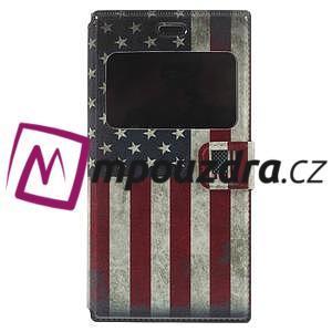 Flipové pouzdro na Xiaomi Mi3- USA vlajka - 3