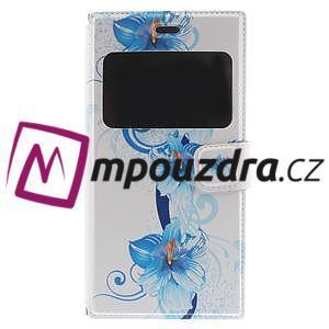 Flipové pouzdro na Xiaomi Mi3- modrá lilie - 3