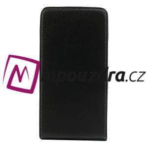 Flipové PU kožené pouzdro na Samsung Galaxy Note 3- černé - 3