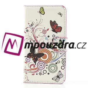 Peněženkové pouzdro na Samsung Galaxy Note 3- barevné motýlci - 3
