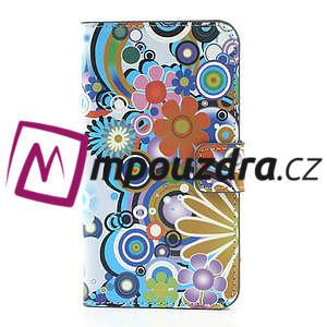 Peněženkové pouzdro na Samsung Galaxy Note 3- barevné květy - 3