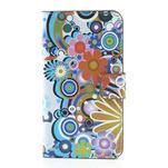 Peněženkové pouzdro na Samsung Galaxy Note 3- barevné květy - 3/7