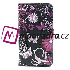 Peněženkové pouzdro na Samsung Galaxy Note 3- motýlci - 3