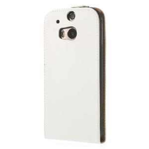 Flipové pouzdro pro HTC one M8- bílé - 3