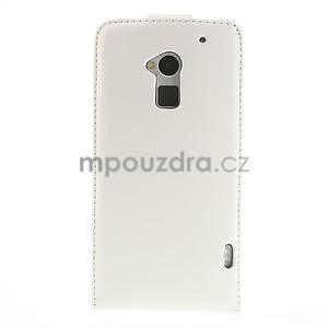 Flipové pouzdro HTC one Max- bílé - 3