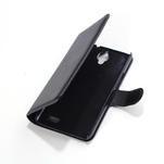 Peněženkové PU kožené pouzdro na Alcatel One Touch Idol OT-6030D- černé - 3/6
