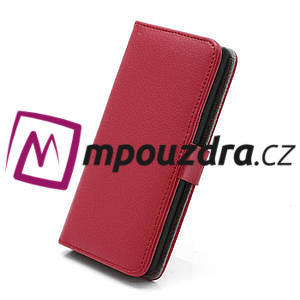 Peněženkové pouzdro na LG Optimus L7 P700 - červené - 3
