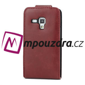 Flipové pouzdro pro Samsung Trend plus, S duos- červené - 3