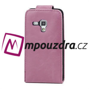 Flipové pouzdro pro Samsung Trend plus, S duos -růžové - 3
