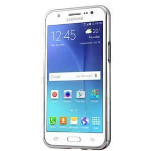 Odolný obal s kovovým obvodem na Samsung Galaxy J5 (2016) - stříbrný - 3