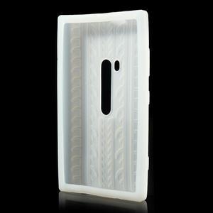 Silokonové PNEU pouzdro na Nokia Lumia 920- bílé - 3