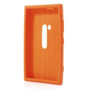 Silokonové PNEU pouzdro na Nokia Lumia 920- oranžové - 3