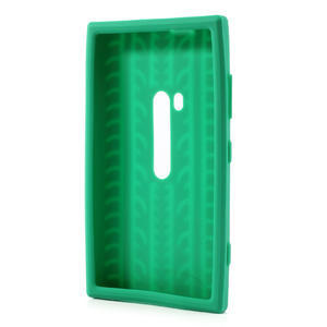 Silokonové PNEU pouzdro na Nokia Lumia 920- zelené - 3