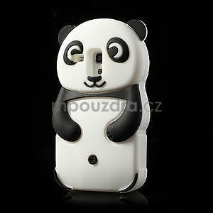 3D Silikonové pouzdro pro Samsung Galaxy S3 mini / i8190 - vzor černá panda - 3