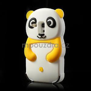 3D Silikonové pouzdro pro Samsung Galaxy S3 mini / i8190 - vzor žlutá panda - 3