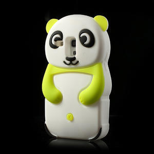 3D Silikonové pouzdro pro Samsung Galaxy S3 mini / i8190 - vzor zelená panda - 3