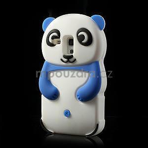 3D Silikonové pouzdro pro Samsung Galaxy S3 mini / i8190 - vzor modrá panda - 3