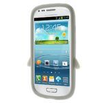 Silikonový TUČŃÁK pouzdro na Samsung Galaxy S3 mini i8190- šedý - 3/7