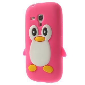 Silikonový TUČŃÁK pouzdro na Samsung Galaxy S3 mini i8190- růžový - 3