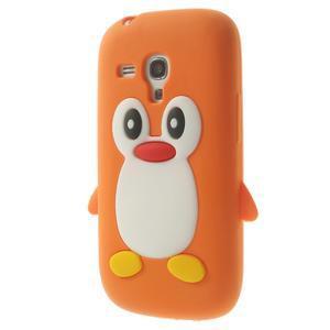 Silikonový TUČŃÁK pouzdro na Samsung Galaxy S3 mini i8190- oranžový - 3