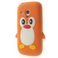 Silikonový TUČŃÁK pouzdro na Samsung Galaxy S3 mini i8190- oranžový - 3/7