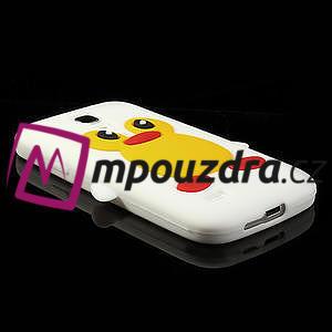Silikon 3D TUČŇÁK pro Samsung Galaxy S4 mini i9190- bílý - 3