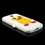 Silikon 3D TUČŇÁK pro Samsung Galaxy S4 mini i9190- bílý - 3/5