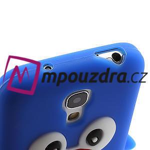 Silikon 3D TUČŇÁK pro Samsung Galaxy S4 mini i9190- modrý - 3