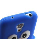 Silikon 3D TUČŇÁK pro Samsung Galaxy S4 mini i9190- modrý - 3/5