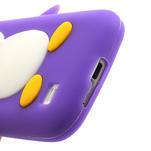 Silikon 3D TUČŇÁK pro Samsung Galaxy S4 mini i9190- fialový - 3/4