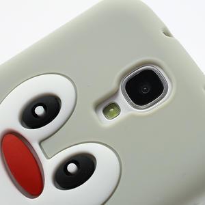 Silikonový Tučňák pouzdro pro Samsung Galaxy S4 i9500- šedý - 3