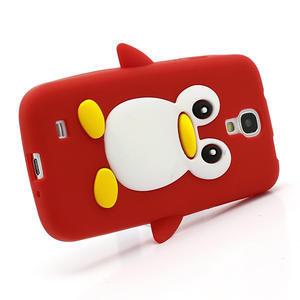 Silikonový Tučňák pouzdro pro Samsung Galaxy S4 i9500- červený - 3