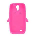 Silikonový Tučňák pouzdro pro Samsung Galaxy S4 i9500- růžový - 3/5