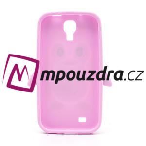 Silikonový Tučňák pouzdro pro Samsung Galaxy S4 i9500- světle-růžový - 3
