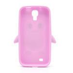 Silikonový Tučňák pouzdro pro Samsung Galaxy S4 i9500- světle-růžový - 3/7