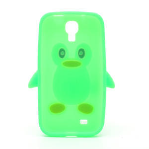 Silikonový Tučňák pouzdro pro Samsung Galaxy S4 i9500- zelený - 3